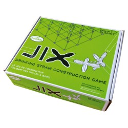 Jix Box Construction à Treillis (125 connecteurs + 250 barres)