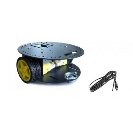Châssis robot mobile 2 roues à moteur courant continu