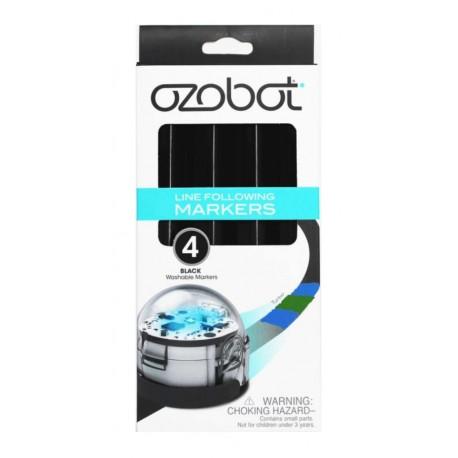 Boîte de 4 feutres noirs Ozobot grand modèle