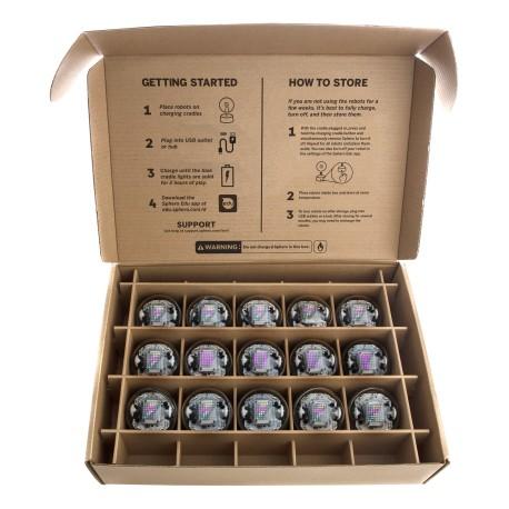 Mallette Pack de 15 Sphero bolt - couvercle